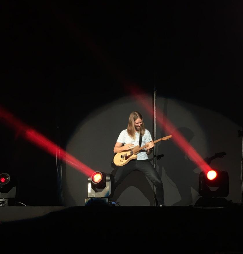James Valentine, durante performance no Allianz Park - São Paulo / 2017