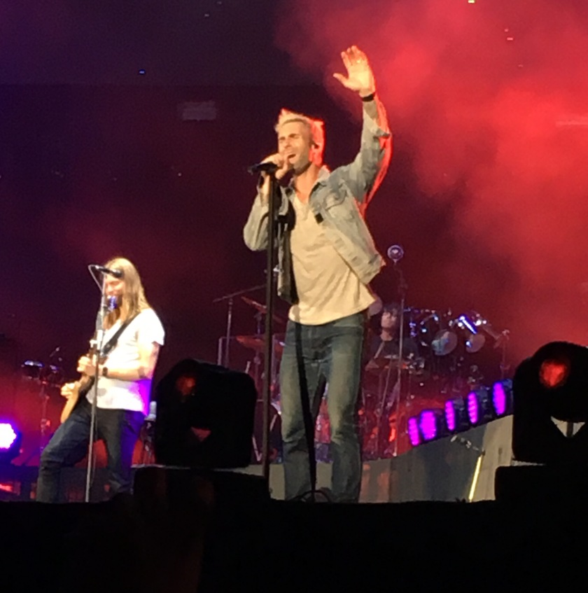 Maroon 5, durante performance no Allianz Park - São Paulo / 2016